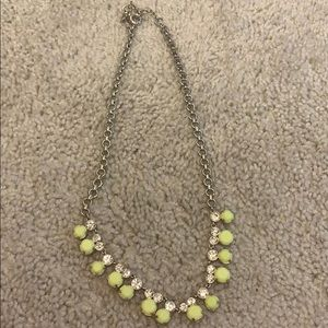 JCrew neon yellow/ green necklace